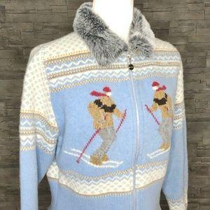Dex blue vintage ski sweater